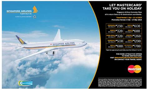 Promo Air singapore airline mastercard air fare promotions now