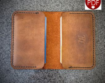 leather wallet paper pattern pdf leathercraft pattern for a single piece leather