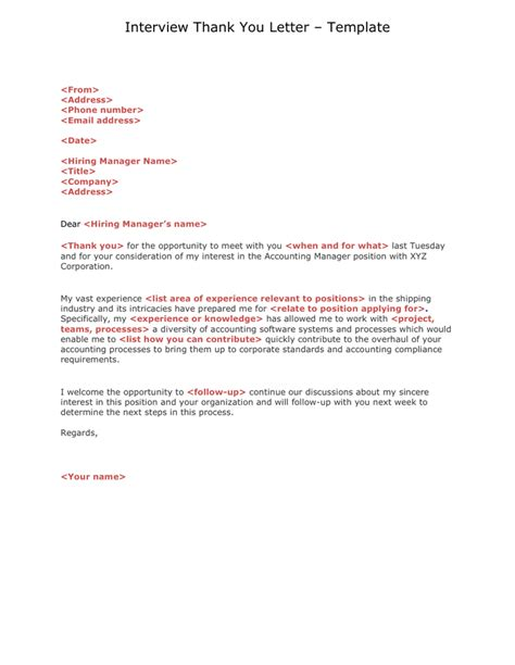 Thank You Letter Interviewers Thank You Letter In Word And Pdf Formats