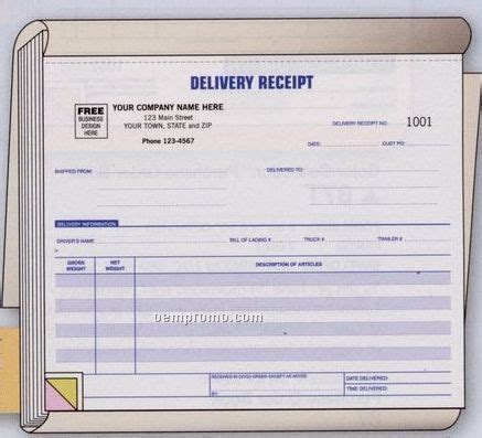 parts delivery receipt template delivery receipt book 3 part china wholesale delivery