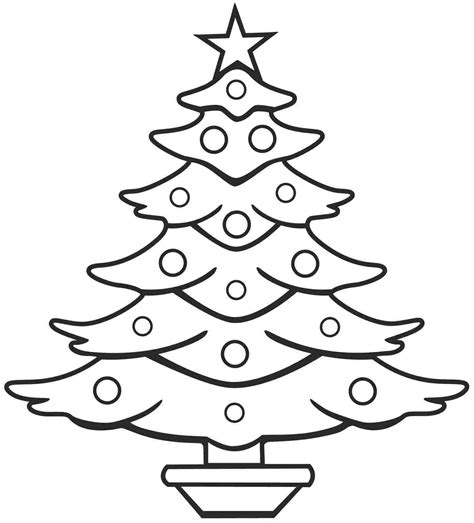 christmas tree glyph printable free printable christmas tree coloring page coloring home