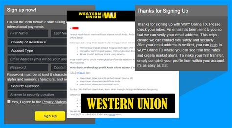 cara membuat akun paypal ninja saga cara membuat akun western union lengkap beserta gambar