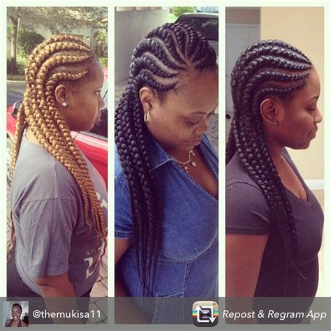 big braids style 19 more big cornrow styles to feast your eyes on black