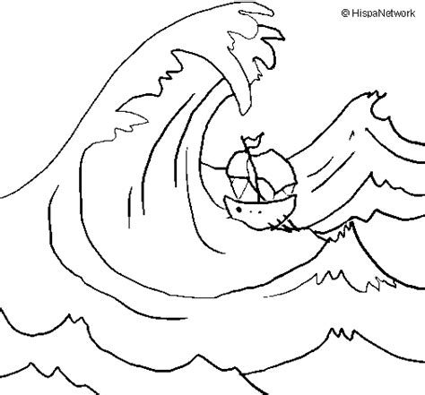 waves coloring book coloring pages