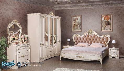 set kamar tidur mewah putih duco modern magdalina terbaru royal furniture indonesia