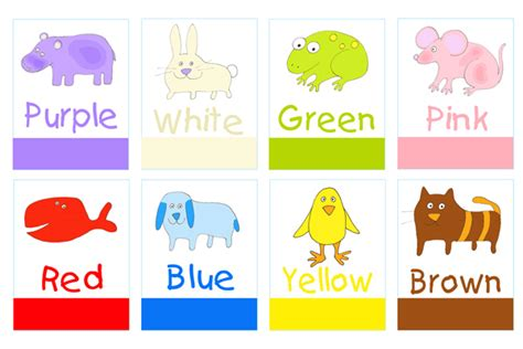 color flashcards print and make colors flashcards
