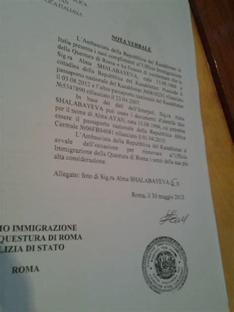 questura roma ufficio passaporti foto caso shabalayeva la lettera dell ambasciata