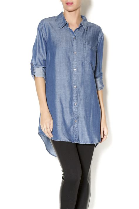 Denim Tunik liverpool jean company denim tunic shirt from kansas by