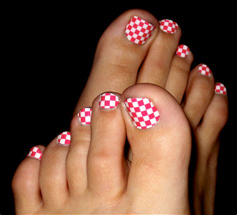 cute toe nail designs 2014 nail designs cute checker toenail art ideas for 2014
