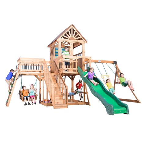 backyard discovery caribbean all cedar playset 1606029com