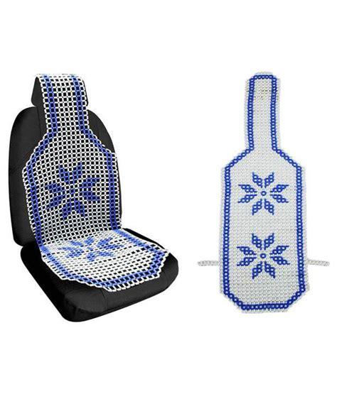 Speedwav Car Marble Bead Seat Acupressure Design Blue