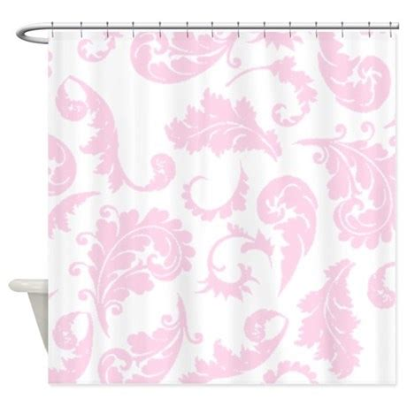 pink pattern shower curtain baby pink damask pattern shower curtain by showercurtainsworld