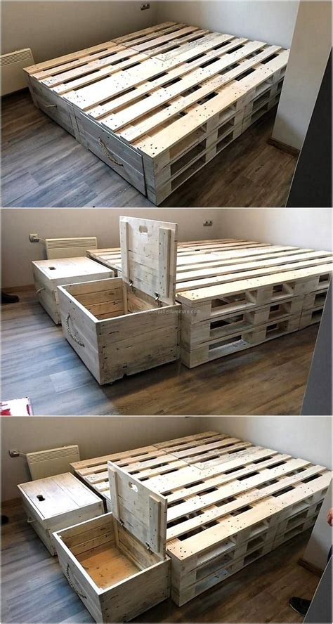 bed frame from pallets admirable ideas for pallets recycling bed frame plans