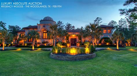 Mansions by The Woodlands Texas Mediterranean Mansion For Sale Golf