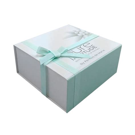 Custom Box With china custom cardboard mint green gift box with ribbon