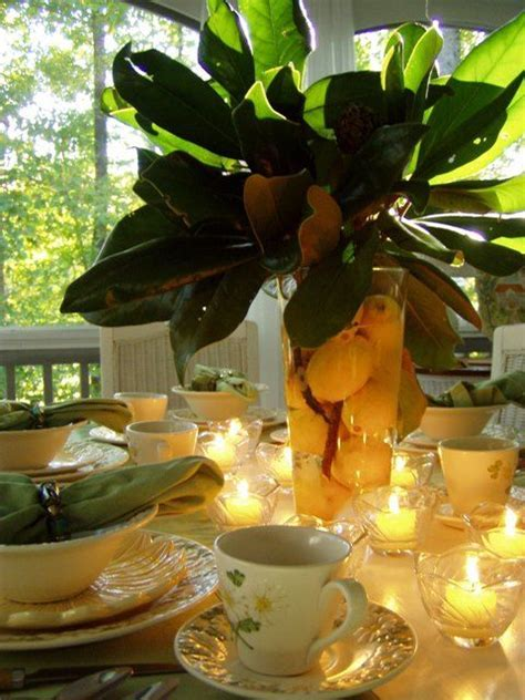 25  best ideas about Magnolia Centerpiece on Pinterest