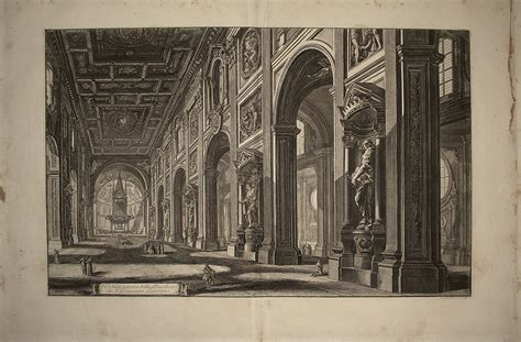 san in laterano interno galleria trincia g b piranesi interno di s