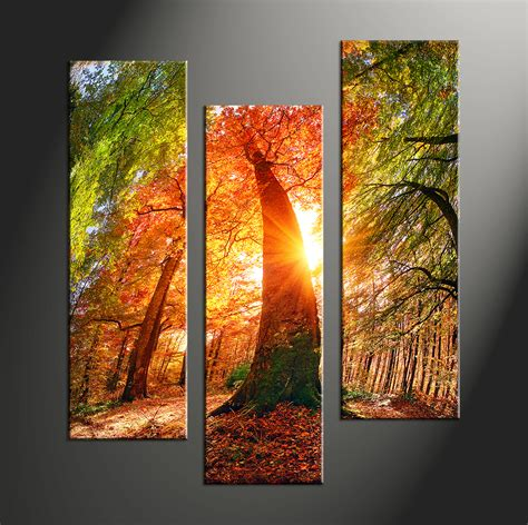 canvas prints triptych red scenery sunrise multi panel canvas