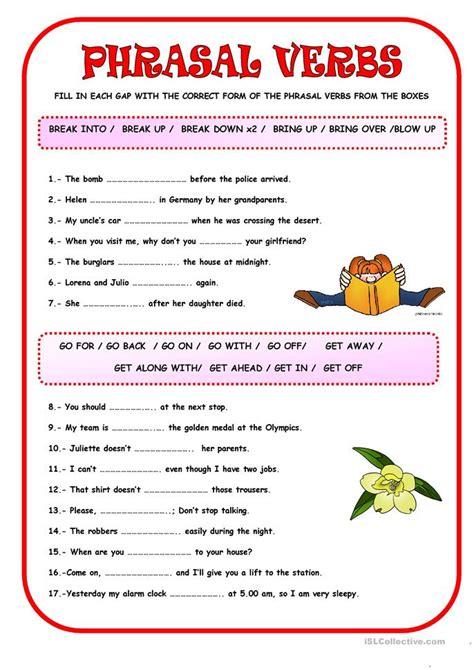 phrasal verbs worksheet free esl printable worksheets