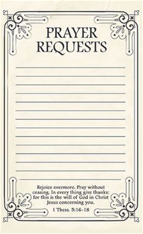 praying card template free printable prayer request forms printable prayers