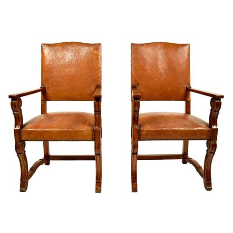 antique armchairs for sale antique pair of leather armchairs for sale at 1stdibs