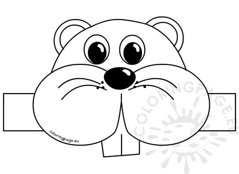 printable groundhog mask groundhog day mask coloring pages