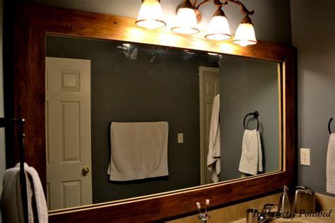 framing builder grade bathroom mirror wood mirror frame part 2