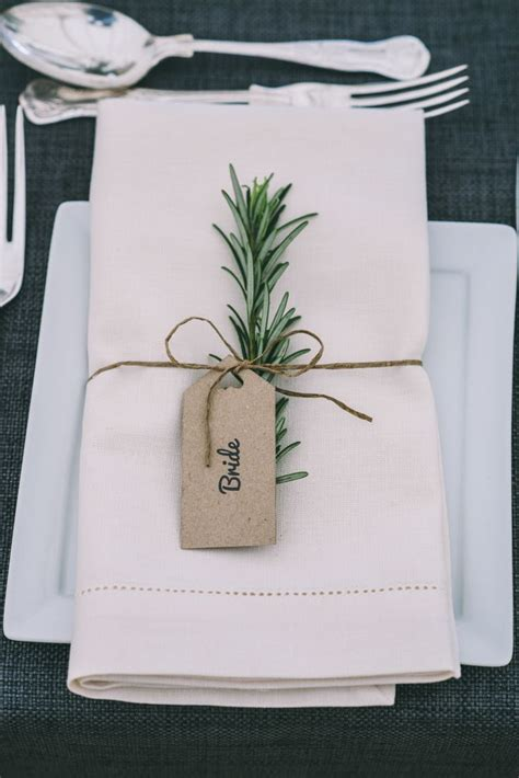 tag home decor rosemary twine luggage tag place name setting decor home