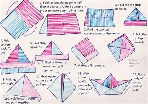 Make Paper Sailboat - unmoored a paper boat project