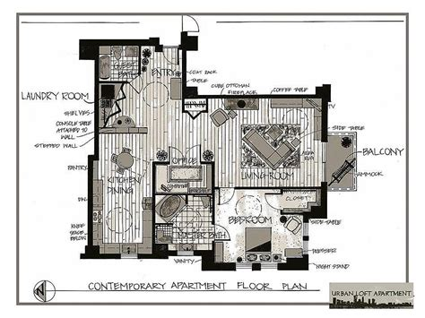 Urban Loft Plans | portfolio by meredith urban van veen at coroflot com
