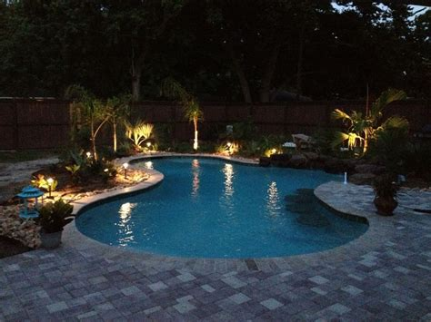 Pool Landscape Lighting Ideas Pool Landscape Lights Pool Ideas