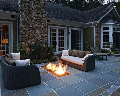 Black In Backyard by White Concrete Patio Slabs Modern Patio Outdoor
