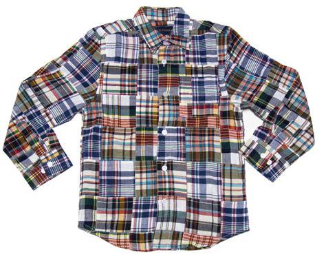 Plaid Patchwork - boys preppy patchwork plaid shirt