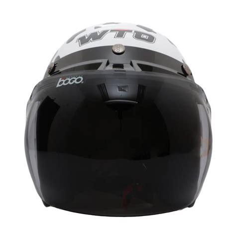 Helm Bogo Standar jual wto helmet retro bogo cow helm half putih harga kualitas terjamin