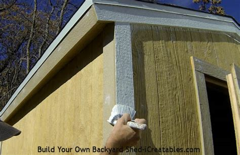 Shed Roof Trim by How To Paint A Shed Icreatables