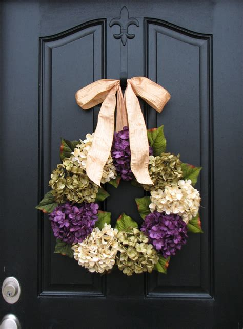 door wreaths for spring spring summer wreaths hydrangea wreath spring by twoinspireyou