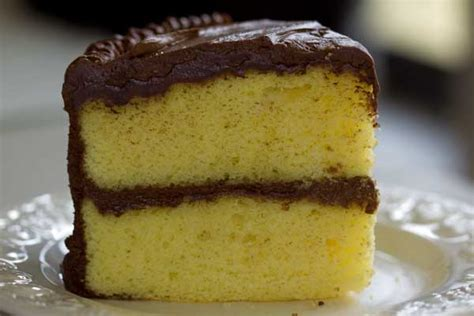 yellow cake with chocolate frosting recipe dishmaps