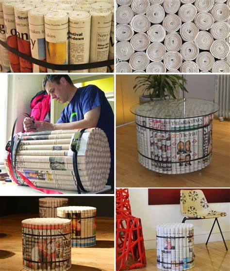newspaper diy projects diy furniture made of newspapers by david stovell