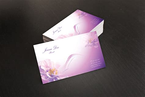 personal business card template illustrator free floral business cards illustrator template by