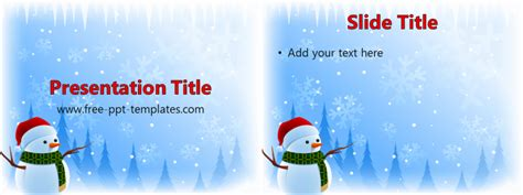snowman ppt template free powerpoint templates