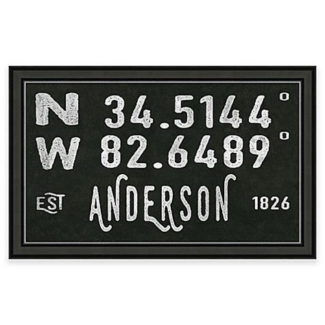 bed bath and beyond anderson sc anderson south carolina coordinates framed wall art bed