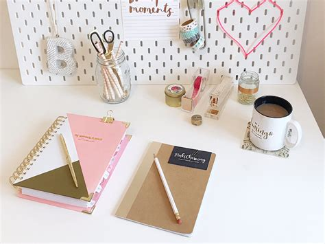 pink and gold desk accessories styling my home office with gold desk accessories