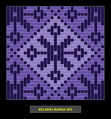 bunga tanjung pattern kelarai bunga api weaving patterns kelarai pinterest