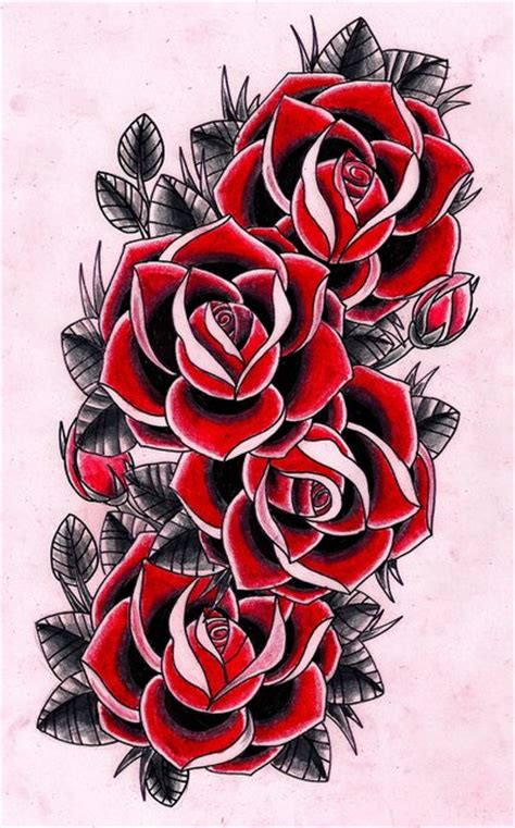 four roses tattoo design by cox