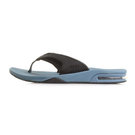 reef fanning mens 13 mens reef fanning steel blue toe post sandals flip flops