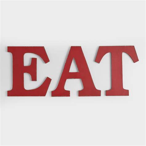 quot eat quot wall letters set of 3 world market
