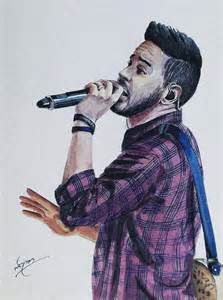 Online House Plans mike shinoda painting by linkin art
