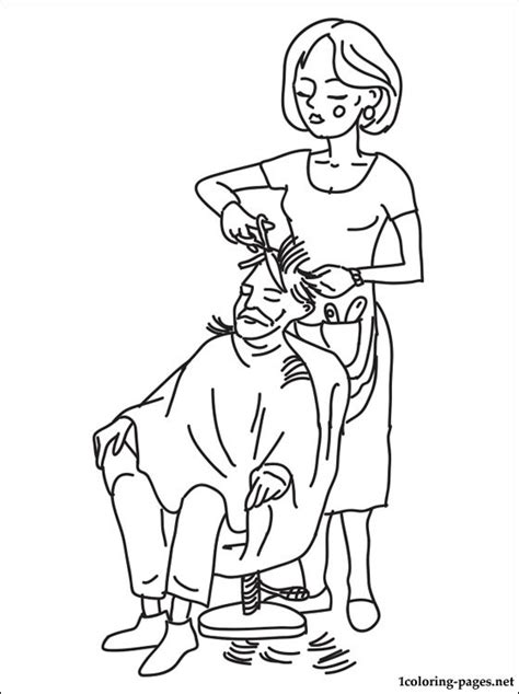 hairdresser coloring pages hairdresser coloring page coloring pages