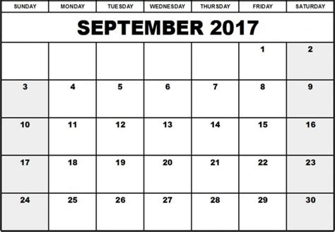 printable editable calendars 2017 september 2017 calendar editable