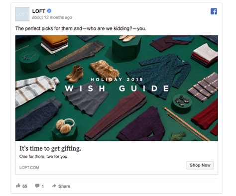 Where Can I Buy Loft Gift Cards - 55 facebook ads that get the holiday advertising right
